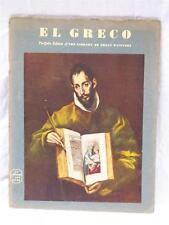 Vintage El Greco Portfolio Edition Library Great Painters Abrams Art Book