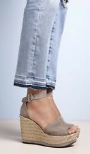 New Stuart Weitzman Soho Jute Gal Espadrille Wedge Sandal Topo Suede Size10 $425