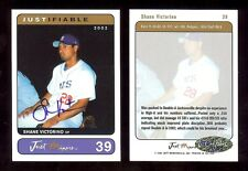 SHANE VICTORINO Boston Red Sox 2002 Certified AUTOGRAPH signed #'d RC xxx/400