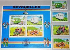 SEYCHELLES SEYCHELLEN 1982 507-10 Block 20 491-4a 5 Ann Liberation Bus Tractor**