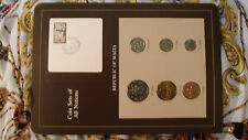 Coin Sets of All Nations Malta 6 coins 1972 - 1986 UNC 25 cents 1975 w/ card