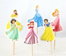 24pcs X Disney Princess characters toppers Cupcake Cup Cake Topper Party