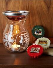 Yankee Candle Tart Burner Christmas Decor Melt Warmer  Scent Free Shipping