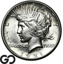 1921 Peace Dollar, High Relief, Key Date First Year Issue