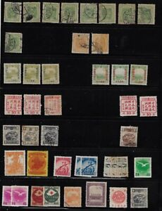 Japan: lot 5, Manchukuo, lot +100 stamps, mint + used, EBJP029