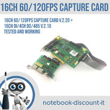 DVR Capture Card 16ch 60/120fps Capture v2.20 w/ 16CH DI/4CH D0/485 Tested OK