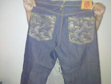 RED MONKEY JEANS RMC MARTIN KSOHOH THE CHAMPION METALLIC SILVER WAVE JEANS SZ 38