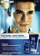 PUBLICITE ADVERTISING 116  2001  Nivea soins visage homme Q10