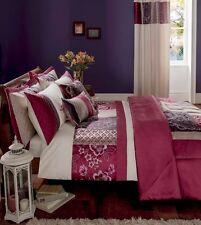 Catherine Lansfield Border Patchwork Plum Single Bed Set