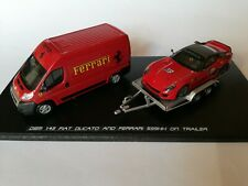 Fiat Ducato E Ferrari 599XX On Trailer Scala 1/43 Dsm