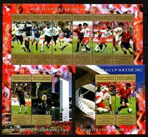 GRENADA GRENADINES 2002 WORLD SOCCER CUP  GERMANY/USA MNH SL6 +  2 MS [#1125]