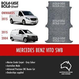 Mercedes Benz Vito SWB - Genuine Flooring Marine Grade Grey Carpet Computer Cut