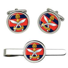 Queen's Gurkha Engineers, British Army Cufflinks and Tie Clip Set