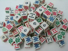 SPANISH POKER DICE GAME 16mm 5 DICE TOTAL TEXAS HOLDEM FREE SHIPPING