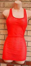 Primark Rosa Encaje Floral Tubo Bodycon Lápiz Cami Blusa Top T Shirt túnica 12 M