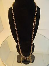 """17.75"""" Solid 9ct ROSE Gold BELCHER Chain 9gr Hm 3mm link Swivel Catch Gift"""