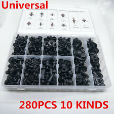 280Pcs 10 Kinds Mixed Car Fender Bumper Door Nylon Rivet Fastener Clips With Box