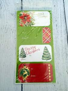 Christmas Present Holiday GIFT Labels Stickers - To/From - Self Adhesive