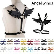 Women Leather Angel Wings Top Body Harness Bra Waist Belt Bondage Strap Corsets