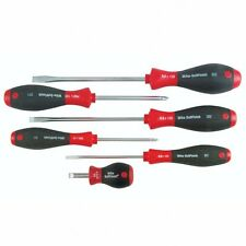 Wiha 30294 6-Piece Slotted and Phillips Screwdriver Set with Soft Finish Handle