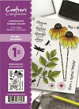 Crafter's Companion Unmounted Rubber Stamp Magic Garden