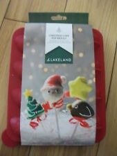Lakeland Christmas Cake Pop Mould, 16 Silicone Moulds, New