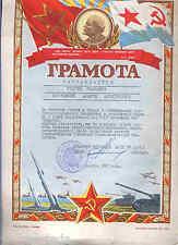 Russie Diploma y médaille a los 60 années Lénine revolution octobre