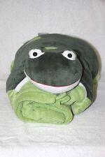 Super Soft FROG Pillow & Blanket NOT PILLOW PET STUFFED PLUSH BLANKIE