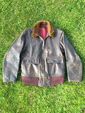 Vintage Wwii H&L Block An-6552 Leather Jacket
