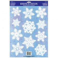 Christmas Party Window Decorations - Vinyl Snowflakes