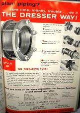 New listing Water Works Catalog Dresser Rand Couplings Sleeves Powell Valves ASBESTOS 1960