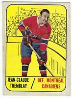 Jean-Claude Tremblay Montreal Canadiens Topps # 73  1967-68