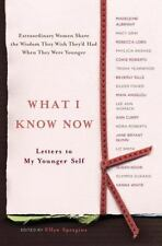 What I Know Now Letters to My Younger Self by Ellyn Spragins 2006 Hardcover