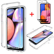 For Samsung Galaxy A20S Clear Crystal Case TPU Phone Cover Full Screen Protector
