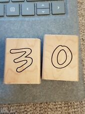 Hobby Art Rubber Stamp Number '3' and the number '0'
