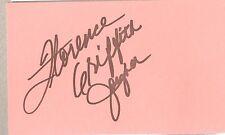Autogramm Florence Griffith-Joyner (3x Olympia Gold 88) 98 mit 38 J.verstorben 1