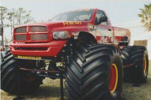 """2000's Mark Hall """"Raminator"""" Dodge Ram Monster Truck 4x6 Found Snapshot Photo"""