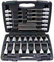 Innen Vielzahn Nüsse Werkzeug Set M5-M16 26-tlg. Steckschlüssel Satz Nuss lang