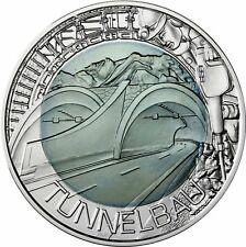 Austria 25 Euro 2013 tunnel construction Niobium Coin fascination technology
