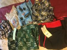 Boys Size L & Xl Lot Of 7 Items Pj & Bathing Suit