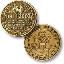 U.S. Army / Varmint License 09112001 - Bronze Challenge Coin