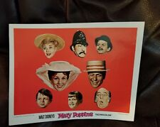 Walt Disney MARY POPPINS Poster Picture in Technicolor  14 x 11