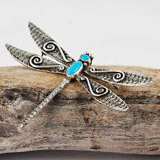 """LEE CHARLEY Navajo """"Water Dragonfly"""" Necklace Pendant & Pin Sterling Silver"""
