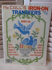 McCall's Iron-On Transfers Vol.V Memory Lane 30 Old-Time Designs Trains Cars etc