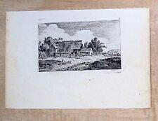 Eau forte de Nicolas Perignon, «La charette », école française XVIIIe.