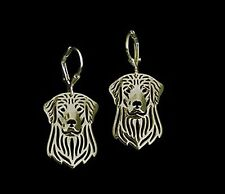 Golden Retriever Dog Earrings-Fashion Jewellery Gold Plated, Leverback Hook