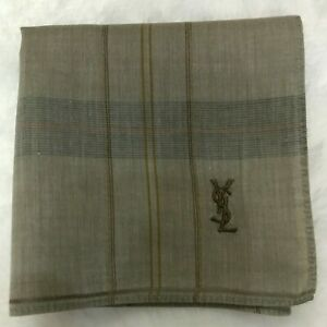 VINTAGE CLASSIC BRAND HANDKERCHIEF STRIP BABY BROWN MEN'S POCKET SQUARE SCARF18""