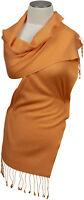 Pashmina Schal 70% Cashmere 30% Seide handgewebt scarf Apricot  schmal silk