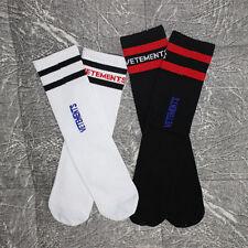 New Unisex Vetements Knitting Stripe cotton crew socks BLK/WHT Brand SUBXstyle