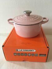 Pink Le Creuset 1 Quart Cast Iron  Round Oven Casserole New